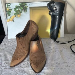 VTG Guess Georges Marciano leather cowboy bootie 8